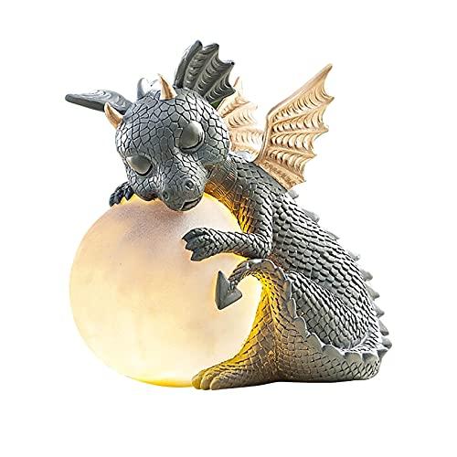 KOIJWWF Statue de Dragon de Jardin extérieur décor à la Maison, Zen Yoga Dragon décoration de Jardin Dragon...