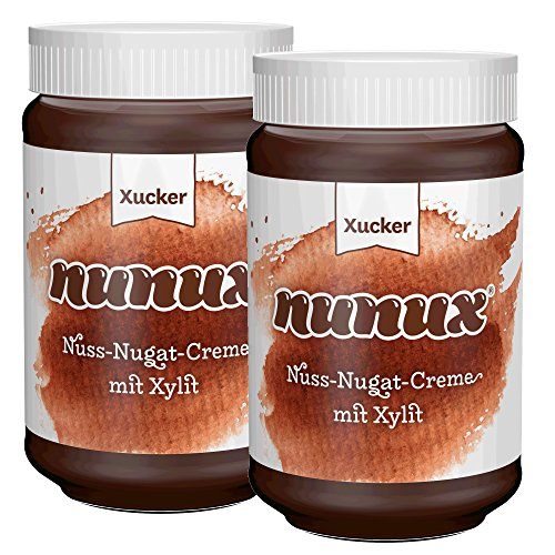 NUNUX Nuss-Nougat-Creme mit Süßungsmittel XYLIT 2 x 300g