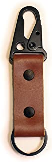 Leather Keychain Tactical HK Clip Fob - Full Grain Leather - Made in the USA - Made in the USA