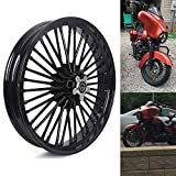 TARAZON 21x3.5 Front Fat Spoke Tubeless Wheel for Harley Touring Street Glide/Road Glide/Ultra Glide/Road King/Electra Glide 84-08, Softail Fatboy Heritage Deluxe