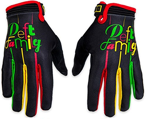 Deft Family Motocross MX Gloves Handschuhe Catalyst 2 Lucid Rasta (X-LARGE (11))