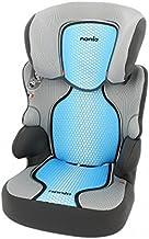 Silla de coche Grupo 2/3 (15 -36kg) - Fabricación 100% Francesa - 3 estrellas Test ADAC/TCS - 4 coloridos - Reposa Cabeza y asiento Tapizado, acolchado y ajustable.