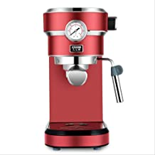 Coffee Machine Household Small Household Appliances Automatic Latte Art Steam Milk Bubble Machine UK Red