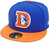 New Era Denver Broncos Royal Orange 2 Tone Classic Logo NFL Cap 59fifty 5950 Fitted Limited Edition