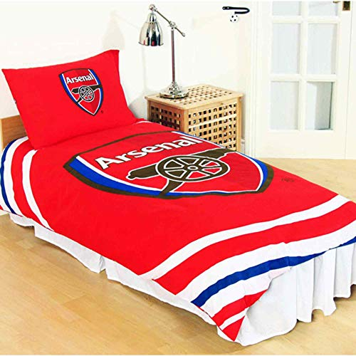 Gunners Official Arsenal FC Reversible Single Bed Duvet Cover Set (Including 1 x Pillowcase)