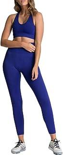 XFKLJ Sports Bra Yoga Pants Seamless Gym Set Nylon Woman Sportswear 2 Piece Exercise Leggings Padded Sports Bras Women Fit...