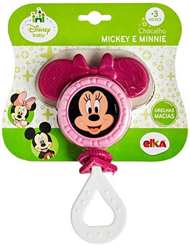Chocalho Minnie, Elka, Rosa Escuro Com Rosa Claro