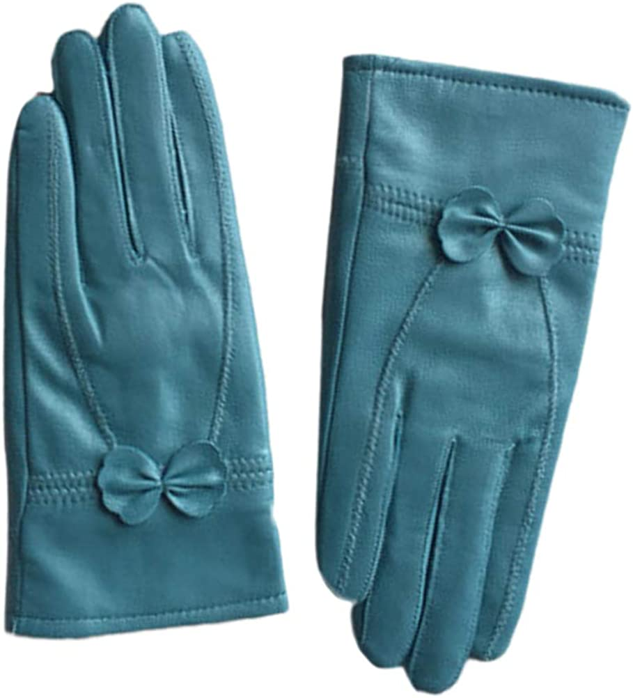 LeJulyeekay Women Real Lambskin Leather Gloves Winter Fleece Lined Driving Gloves