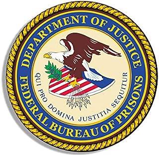 JR Studio 4x4 inch Round Federal Bureau of Prisons Seal Sticker -us fbp Logo Guard Justice Vinyl Decal Sticker Car Waterproof Car Decal Bumper Sticker