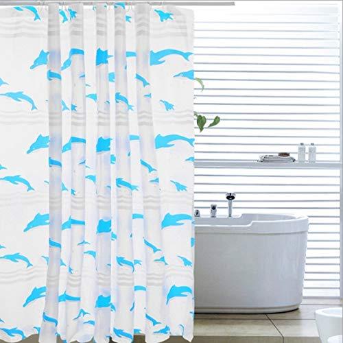 NOBRAND douchegordijn moderne minimalistische huis dolfijn patroon familie badkamer bal type waterdichte verdikking schimmel Polyester