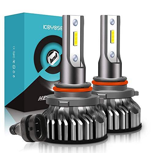 KOYOSO 9012 LED Koplampen, 10000LM koplampen Vervangingslampen van Halogeen en Xenonkit, 6000K Wit