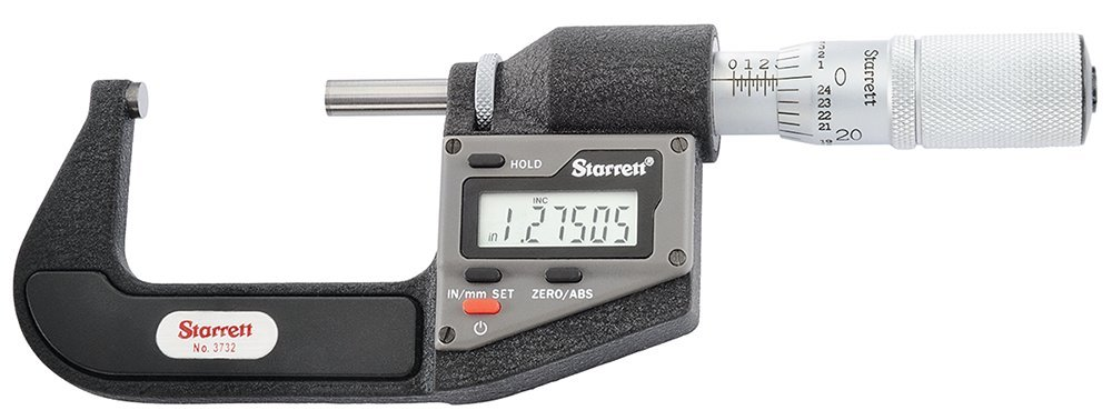 Starrett 3732XFL-2 Inch Metric Micrometer Electronic Long-awaited New mail order Out without