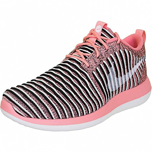 Nike Roshe Two Flyknit Women Sneaker Trainer (37 1/2, melon/white)