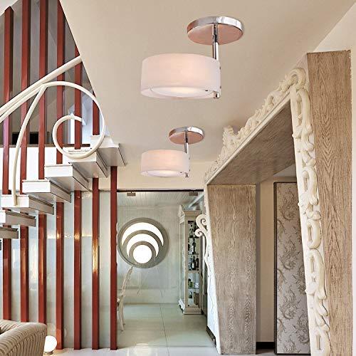 ALFRED® Lüster aus Akryl mit Chrom-Lackierung, Mini Style Putz Deckenleuchte-Befestigung für eine Garage, Flur, Schlafzimmer, Wohnzimmer