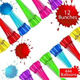 Tiny Balier Water Balloons Easy Quick Fill in 60 Seconds for Splash Fun Kids and Adults Party (12, multicolored013)