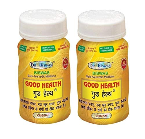 Good Health Dr. Biswas Safe Ayurvedic Capsules For Overall Health Pack of 2 (50X2)