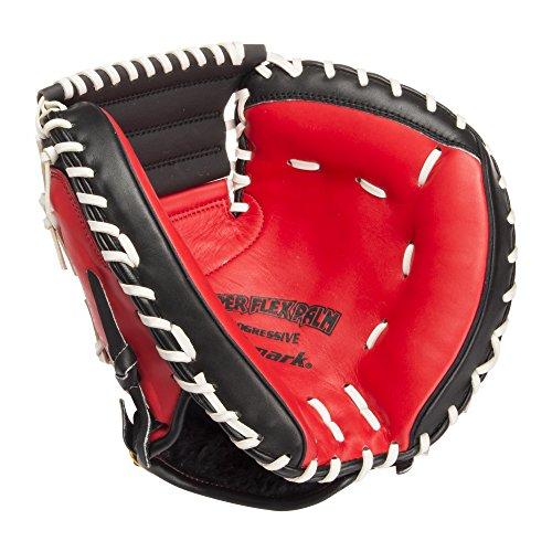 『サクライ貿易(SAKURAI) Promark(プロマーク) 野球 一般軟式用 グラブ(グローブ) 捕手用 キャッチャーミット レッドオレンジ×ブラック PCM-4253』の6枚目の画像