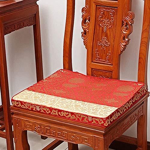 Mirui Stuhl Sofakissen Futon Sitzkissen Fenster Pad Chinese Palisander Stuhl-Kissen Tatami Bodenkissen (Color : A, Size : 38x44cm(15x17inch))