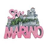 San Marino Magnet Refrigerator Fridge Magnet Sticker 3D Handmade Resin Travel Gift Souvenir Collection Decoration