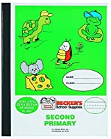 Becker's School Supplies Second Primary Composition Book Sewn (Pack of 12) [並行輸入品]
