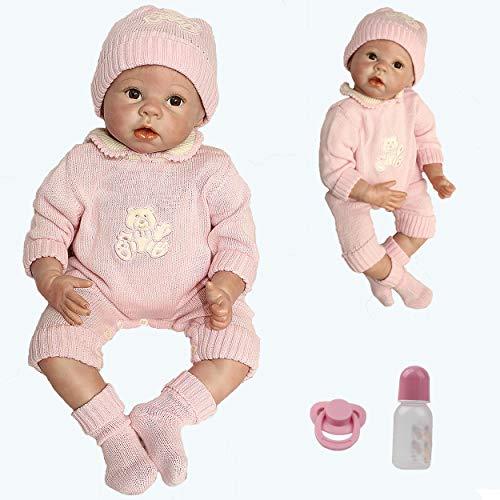 ZIYIUI 22 Pollici 55cm Reborn Bambole Femmine Silicone Morbido Vinile Realistico Reborn Femmina Originale Bambola Bambina Reborn Dolls