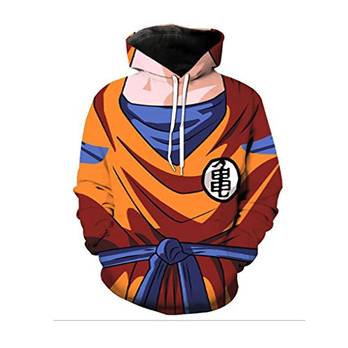 Harry Shops Halloween Holiday Dragon Ball Costume Hoodie-OR-Male-XX-Large