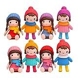 Cute Girls Figures Toys, Kimkoala 8Pcs Lovely Plastic...