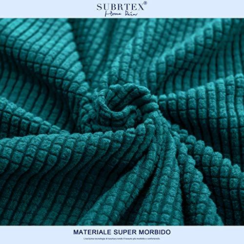 subrtex 1-Pezzo Copridivano Elasticizzato Tre Posti AntiGraffio per Gatto Cani, Moderno Divano Protector Lavabile (3 Posti, Blu Verde)
