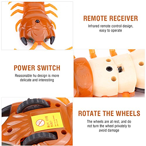 Dilwe RC Centipede Spielzeug, schnelle Bewegung Infrarot Fernbedienung gefälschte Scolopendra RC Streich Spielzeug Geschenk für Party Halloween Weihnachten