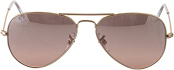 Ray-Ban Aviator Gradient Silver-Pink Mirror 55 mm Ladies Sunglasses