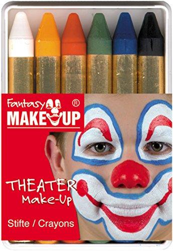 Kreul 37050 - Schminkstifte Fantasy Make Up, 6 Stifte, Schminkfarben, Gesichts- und Körperbemalung