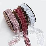 CherieWack 3 rollos de cinta cinta de gasa de color transparente de 45 m, adecuada para embalaje de regalo, Navidad, día de San Valentín, boda, ramo, fiesta de cumpleaños, moño, corona y decoración de