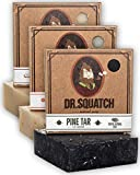 Dr. Squatch Men's Soap Variety Pack – Manly Scent Bar Soaps: Pine Tar, Cedar Citrus, Bay Rum – Handmade with Organic Oils in USA (3 Bars)