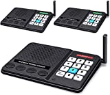 Intercoms Wireless for Home - GLCON Wireless Intercom 1 Mile Long Range 10 Channel 3 Code - Room to Room Home Intercom System for House Office Business Gate (3 Packs) [2020 New Version]
