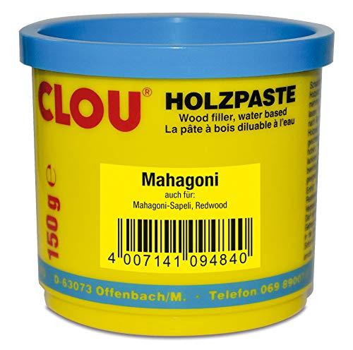 Clou Holzpaste zum Reparieren und Auskitten von Holzschäden mahagoni, 150 g: gebrauchsfertige Paste geeignet für den gesamten Innenbereich