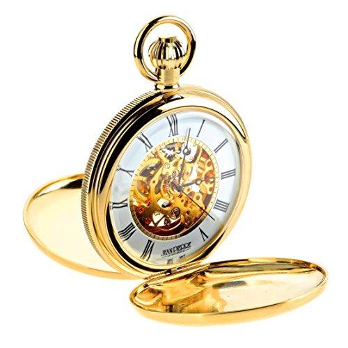 Jean Pierre chapado en oro doble Hunter reloj de bolsillo mecánico. La Federación _ g256pm