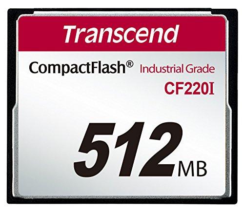 Transcend 512MB CF 0.512GB CompactFlash Memoria Flash - Memoria Flash (0,512 GB, CompactFlash, 40 MB/s, 42 MB/s, 4000000 h, Negro)