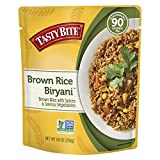 Tasty Bite Brown Rice Biryani 8.8 Ounce (Pack of 6), Whole Grain Brown Rice with Spices Potatoes &...