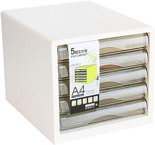 HongLianRiven Module Classement 5 Classeur de Stockage de données Armoire à tiroirs Boîte de Rangement en Plastique Multic...