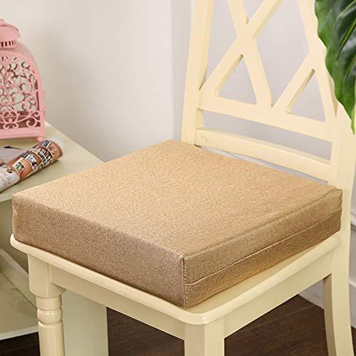 Waigg Kii Cojines de asiento WithTies suave cojín de silla de 5/8 cm acolchado para silla Suqare Cojines de asiento, para exterior interior y hogar (beige, 40 x 40 x 8 cm)