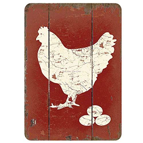 Mainstayae The Hen House Shabby Metal Tin Signs Farm Fresh Eggs Metal Plate Club Plaque Iron Painting Home Wall Stickers Retro Pub 20x30cm 9
