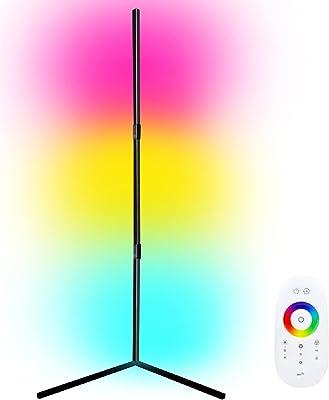 Bedoo Stehlampe Farbwechsel LED RGB Ecklampe mit dimmbarer Fernbedienung