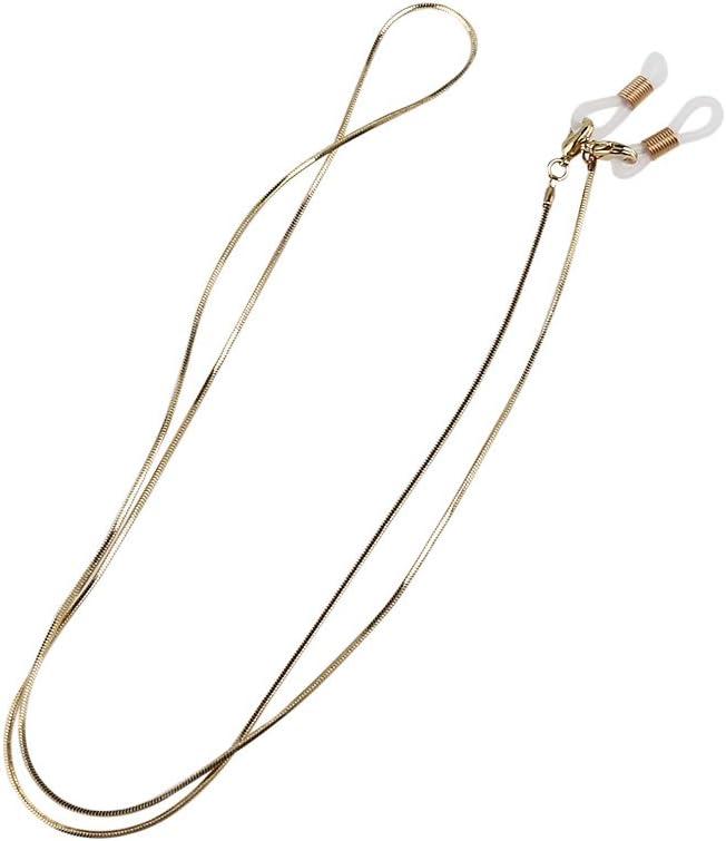 LEORX Eyeglass Neck Strap 70cm Long Non-slip Copper Sunglasses Chain Cord Holder (Golden)