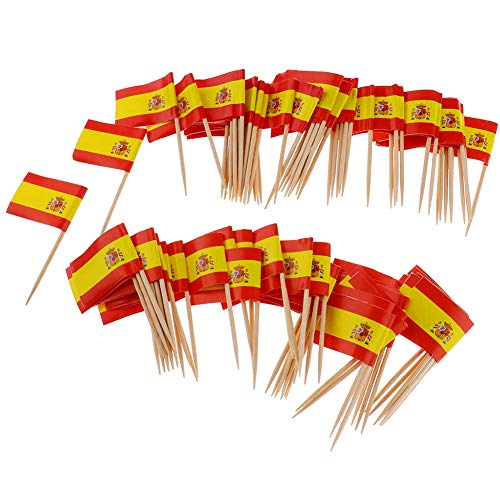 Beito Mini Flag zahnstocher 100 stücke Spanien Flagge Kuchen Auswahl internationalen veranstaltungen Cocktail Stick Flag Obst Lebensmittel Pick