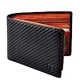 BIAL Mens Wallet, RFID Blocking Wallet, Wallets Mens, Bifold Wallet, Flip Wallet, Wallets for Men, Slim Bifold Wallet, 2 ID Window Wallet, Superfine Fiber PU Synthetic Leather