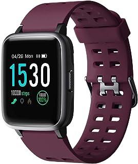 comprar comparacion YAMAY Smartwatch, Impermeable Reloj Inteligente con Cronómetro, Pulsera Actividad Inteligente para Deporte, Reloj de Fitne...