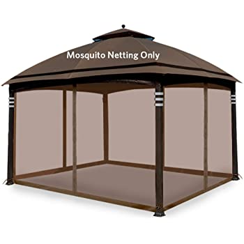 Amazon Com Hofzelt Gazebo Replacement Mosquito Netting Screen Walls For 10 X 12 Gazebo Canopy Mosquito Net Only Beige Garden Outdoor