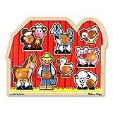Melissa & Doug Large Farm Jumbo Knob - Rompecabezas (Rompecabezas de Figuras, Animales, Niño pequeño, Farm Jumbo Knob, Niño/niña, 1 año(s))