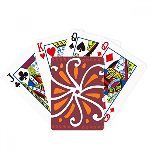 Crisantemo marrón México Tótems Civilization Poker Jugar Tarjeta mágica Divertida Juego de mesa