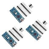 [3 Piezas] Módulo Placas Para Arduino Nano V3.0, Placa VANYE Nano CH340/ATmega328P, Compatible con Arduino Nano V3.0